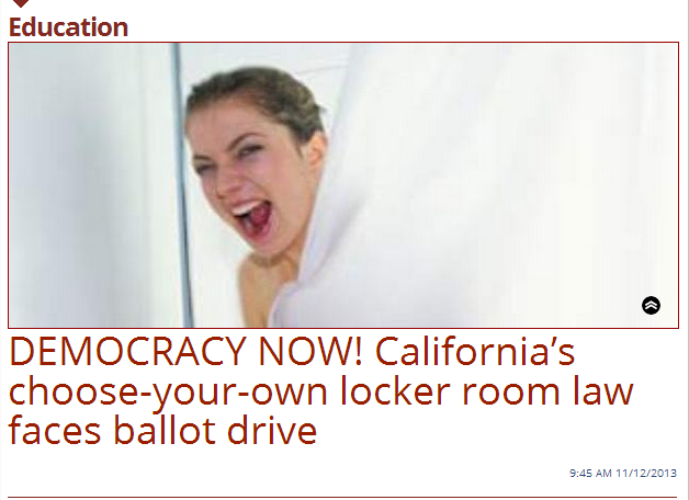Daily Caller Pretends California Transgender Law Allows Bathroom Free For Alls Equality Matters